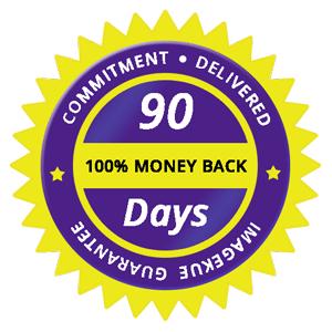 Imagekue 100% satisfaction gurantee with 90 days money back policy
